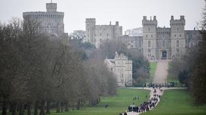 People on the Long Walk at Windsor Castle in Berkshire (Kirsty O'Connor/PA)