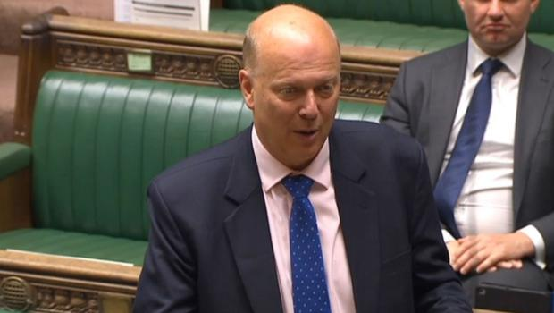 Transport Secretary Chris Grayling makes a statement to MPs as rail services on the East Coast Main Line are to be brought back under public control (PA)