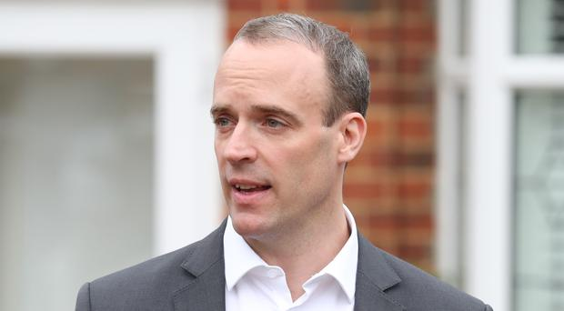 Dominic Raab is challenging to be the next leader of the Conservative Party (Andrew Matthews/PA)