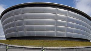The SEC Centre in Glasgow which is due to host the talks is being turned into a temporary hospital (Andrew Milligan/PA)