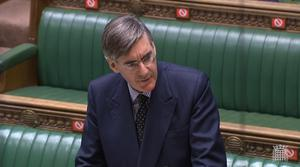 Jacob Rees-Mogg was speaking in the Commons (House of Commons/PA)