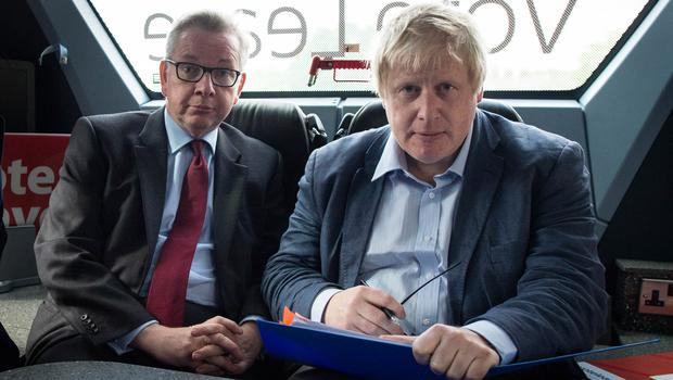 Michael Gove and Boris Johnson (right) were both pat of the Vote Leave campaign (Stefan Rousseau/PA)