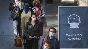 Face coverings became mandatory on public transport in England with the easing of further lockdown restrictions (Victoria Jones/PA)