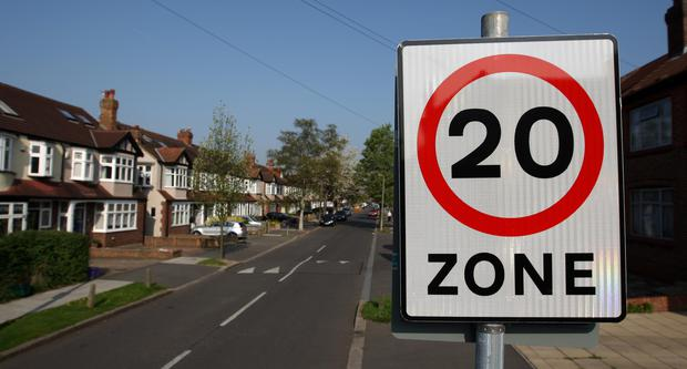A 20mph speed limit will be introduced on every Transport for London-managed road in central London by 2020 (Dominic Lipinski/PA)