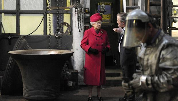 The Queen visited the foundry in 2009 (Adrian Dennis/PA)