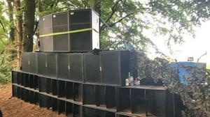 Police seized sound equipment after a social media tip-off about an illegal dance party (Norfolk Constabulary/PA)