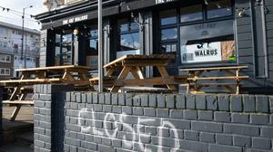 A pub in New Cross, south London, following the Government-ordered closure of bars, clubs and restaurants due to the coronavirus outbreak (Dominic Lipinski/PA)