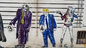 Boris Johnson features in a new mural in Worthing