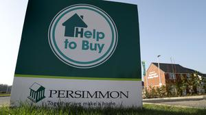 Persimmon Homes signage near Larbert after the housebuilder said it would restart work on its construction sites (Andrew Milligan/PA)