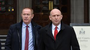 Sir Kevin Barron, MP for Rother Valley and John Healey, who represents Wentworth and Dearne (John Stillwell/PA)