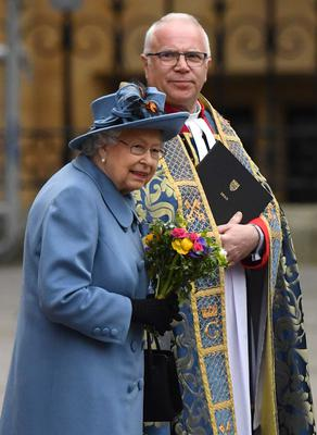 The Queen leaving Westminster Abbey after attending the Commonwealth Service in early March before the lockdown (Dominic Lipinski/PA)