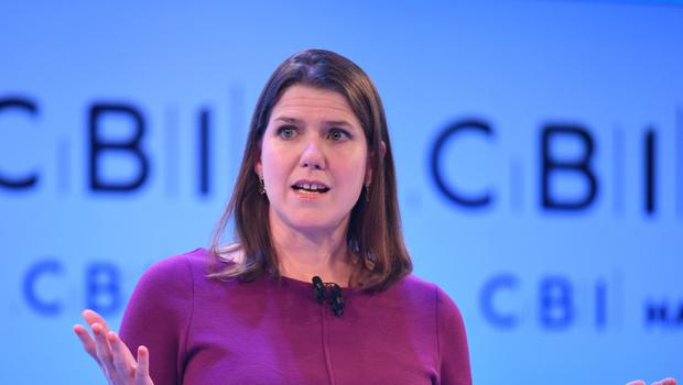 Liberal Democrat leader Jo Swinson speaking at the CBI annual conference at the InterContinental Hotel in London.
