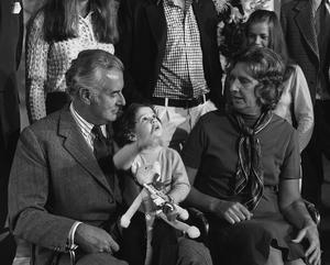 Gough Whitlam with family members (PA)