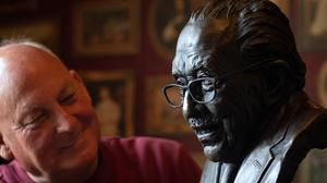 Garry McBride, of Monumental Icons, commissioned a bronze bust of NHS fundraising hero Captain Sir Tom Moore (Joe Giddens/PA)