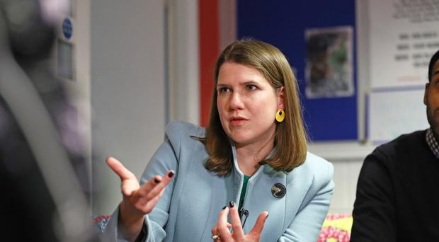 Liberal Democrat leader Jo Swinson on the General Election campaign trail (Aaron Chown/PA)