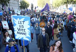 Organisers say that as many as 700,000 people took part in a People's Vote march in London last October (Yui Mok/PA)