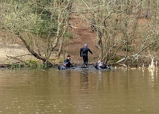 Police divers in Epping Forest (Metropolitan Police/PA)
