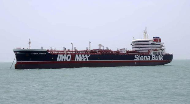 Stena Impero in the Iranian port of Bandar Abbas (Tasnim News Agency/via AP)