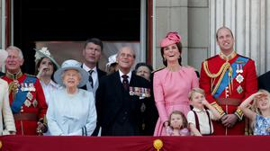 The Duke of Edinburgh on the Palace balcony with the royal family in 2017 (Yui Mok/PA)