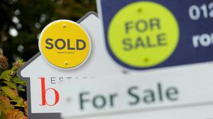 House prices fell 0.2% month on month in April, with the average property value standing at £234,612, the ONS said (Andrew Matthews/PA)