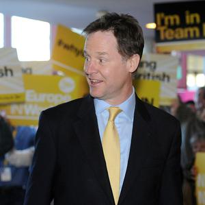 Liberal Democrat leader Nick Clegg sees the European elections as a choice between his party and Ukip