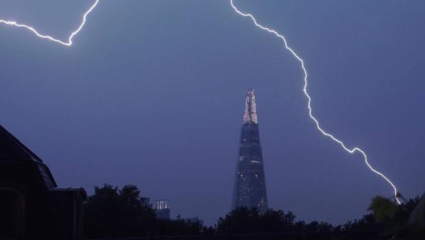 The weather over London (Sam Wilkinson/PA)