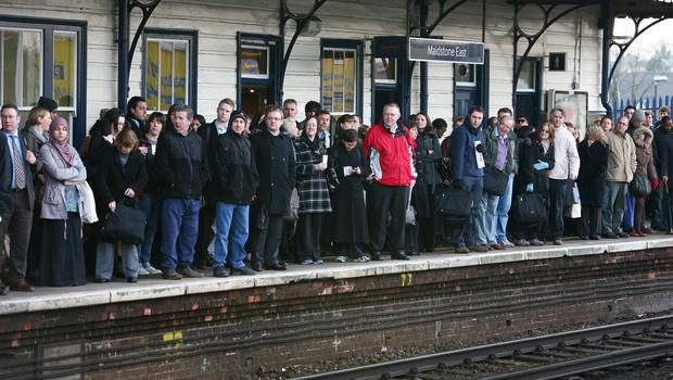 Rail punctuality has slumped to a 13-year low (Gareth Fuller/PA)