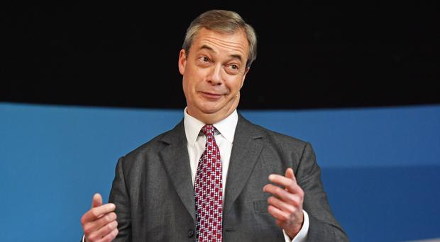 Brexit Party leader Nigel Farage has been interviewed by the BBC's Andrew Neil (Jacob King/PA)