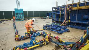Fracking was suspended at Cuadrilla's fracking site in Preston New Road after a tremor was detected (PA)