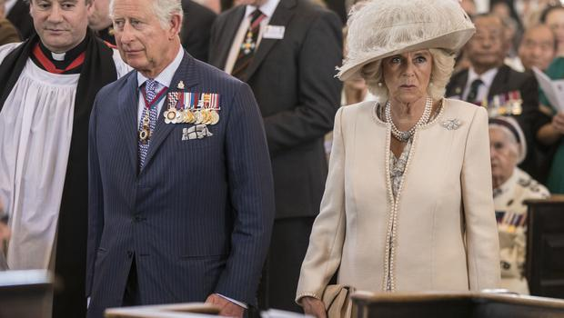 Charles and Camilla attend the service at St Martin-in-the-Fields (Richard Pohle/The Times via PA)