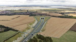 An artist's impression of the planned Lower Thames Crossing in Kent, as doubts are raised over major road schemes (Highways England/PA)