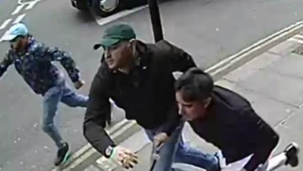 Three men are being sought in connection with the theft of a watch, valued at £115,000, from the wrist of a tourist in London in June 2019 (Metropolitan Police/PA)