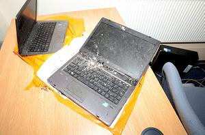 Computers were also damaged at Thwaites Brewery in Blackburn (Lancashire Police/PA)