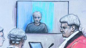 Barry Bennell is appearing via videolink at Liverpool Crown Court (Elizabeth Cook/PA)
