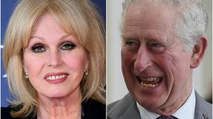 Joanna Lumley and the Prince of Wales (Ian West/Rebecca Naden/PA)
