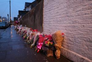 Dozens of tributes were left at the scene after Tanesha was murdered (Jonathan Brady/PA)