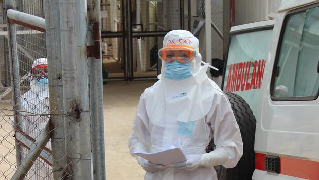 Dr Catherine Houlihan in protective equipment (Catherine Houlihan/PA)