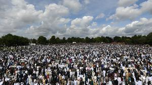 Thousands of people would usually attend Eid celebrations at the end of Ramadan (Joe Giddens/PA)