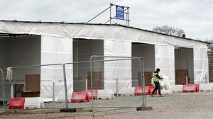A view of a drive-through Covid-19 screening site (Gareth Fuller/PA)