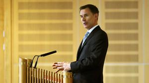 Jeremy Hunt said the security of British citizens is his first priority (Andrew Milligan/PA)