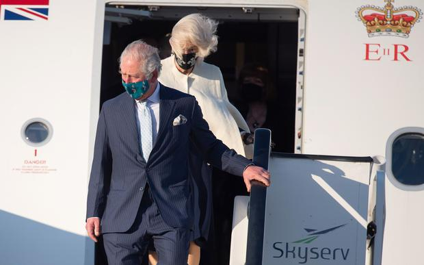 The Prince of Wales and the Duchess of Cornwall arrive at Athens International Airport (Samir Hussein/PA)