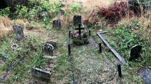 Public grave at Manor Park Cemetery where Sarah Dearman was buried in 1945 (Family handout/PA)