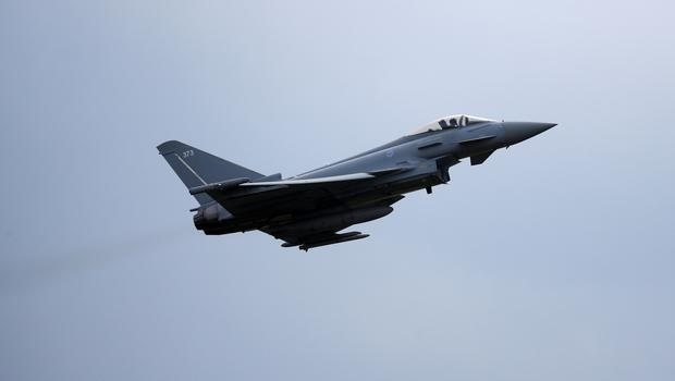 An RAF Typhoon fighter (Phil Noble/PA)