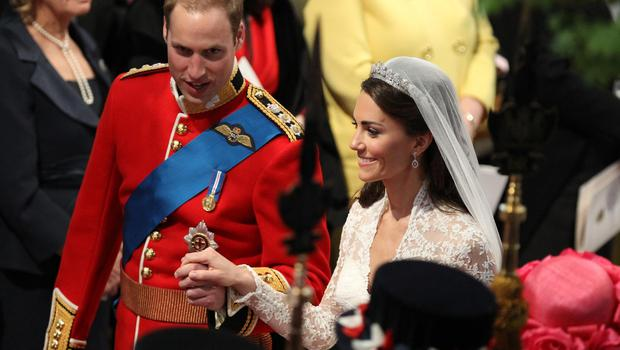 When the Duke and Duchess of Cambridge married, William chose not to wear a wedding ring while Kate did (Adrian Dennis/PA)