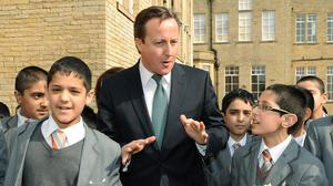 Prime Minister David Cameron visits Kings Science Academy in Bradford