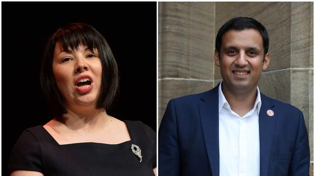 Anas Sarwar and Monica Lennon are both running for the Scottish Labour leadership (PA)