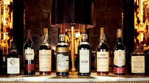 Some of the bottles on sale in the auction (Peter Dibden/Whisky Auctioneer/PA)