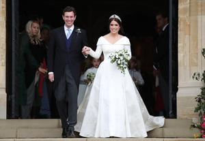Princess Eugenie and Jack Brooksbank on their wedding day in Windsor (PA)