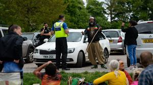Police were first given powers to break up gatherings and fine people for breaching restriction of movement rules (Jacob King/PA)