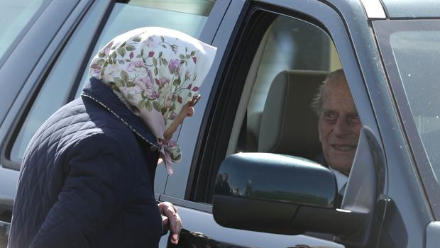 The Queen talks to the Duke of Edinburgh at the Royal Windsor Horse Show (Steve Parsons/PA)